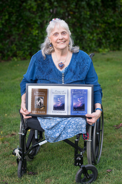 Judy with 3 Books