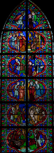Coutances, Notre-Dame Cathedral Saint Catherine of Alexandria Window