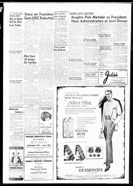 Daily Trojan, Vol. 52, No. 119, May 04, 1961