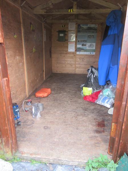 Inside Fords of Avon Shelter