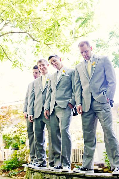 groom with groomsmen wearing chucks