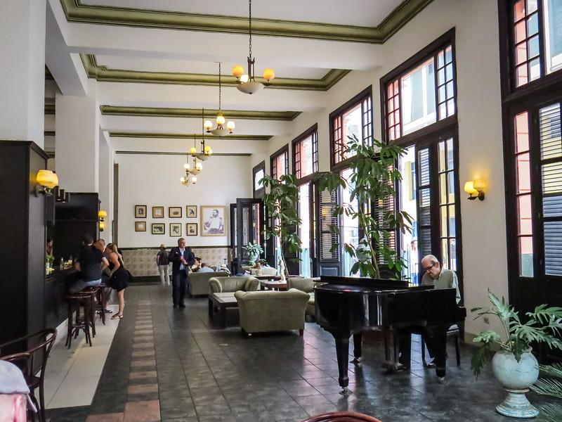 An elegant bar-salon in Old Havana.