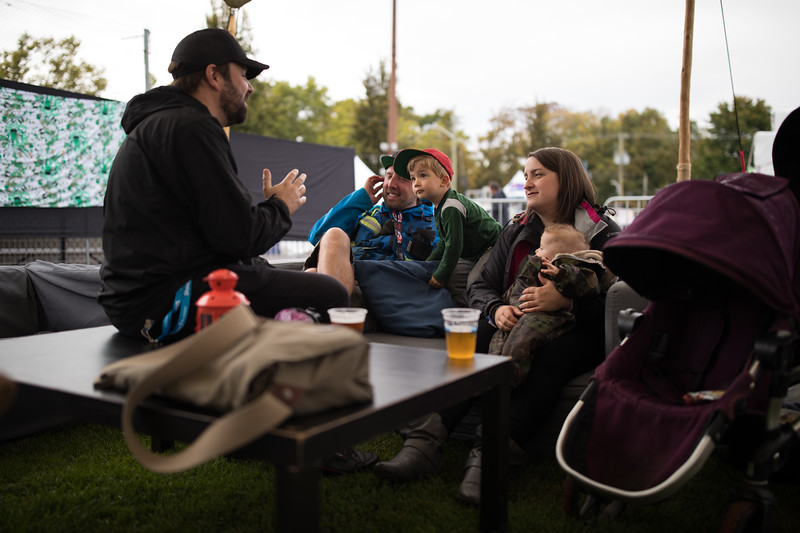 Backstage Minglers, Rifflandia Gathering,  ©Jake Sherman, 2018