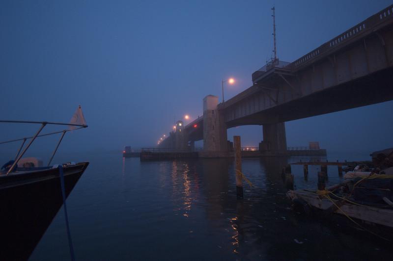 Highlands Bridge in Fog