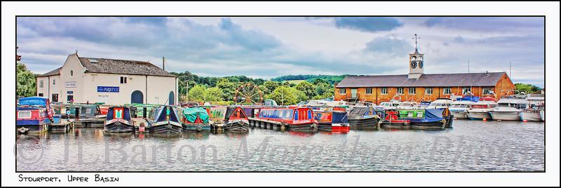 Upper Basin Stourport, UK Where the Staffs & Worcs canal meets the Severn Part market town, part fun fair