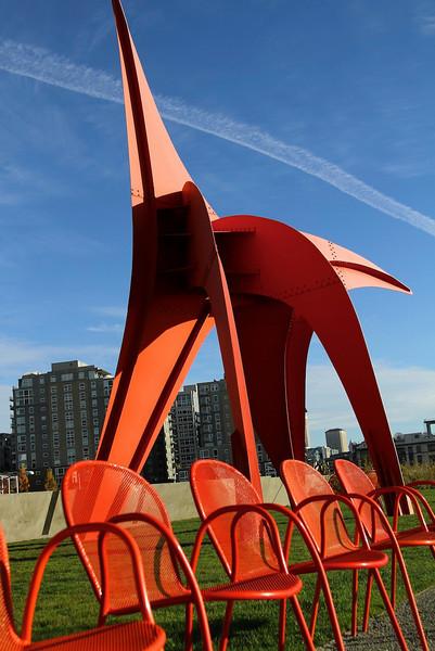 Sculpture garden in Seattle