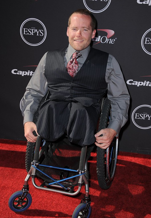 . Paralympic skier Tyler Walker arrives at the ESPY Awards on Wednesday, July 17, 2013, at Nokia Theater in Los Angeles. (Photo by Jordan Strauss/Invision/AP)