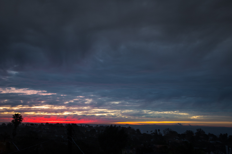 January 6 - Multi-colored sunrise over Santa Monica Bay, CA.jpg
