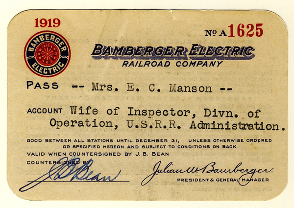 Bamberger Electric Railroad 1919
