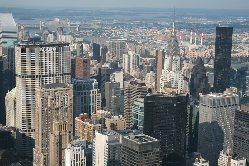 View from the top of The Empire State Building, New York City, New York