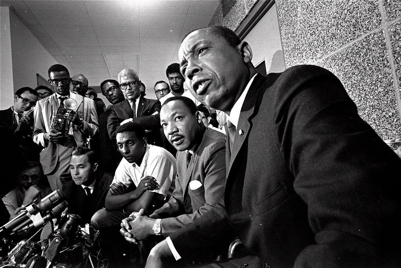 . In a rare public appearance together, the leaders of Civil Rights groups conduct a news conference in Memphis, Tenn., in this June 7, 1966 file photo, in the wake of the shotgun attack on James Meredith near Hernando, Miss. From left, they are: Stokely Carmichael, leader of the Student Non-Violent Coordinating Committee; the Rev. Martin Luther King, Jr., president of the Southern Christian Leadership Conference; and Floyd McKissick, speaking, national director of the Congress of Racial Equality.Kwame Ture, who as Stokely Carmichael made the phrase ``black power\'\' a rallying cry of the civil rights upheavals of the 1960s, died Sunday, Nov. 15, 1998, in Guinea, a member of Ture\'s All-African People\'s Revolutionary Party said. He was 57. (AP Photo/File)
