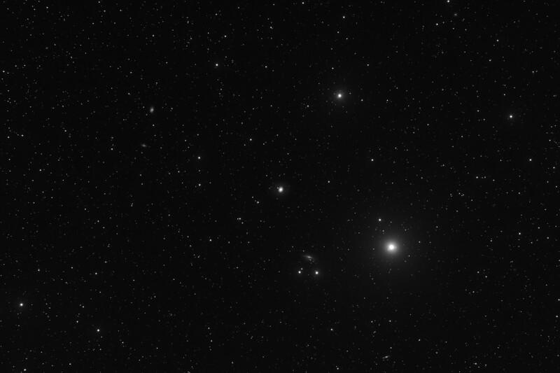 M77 and surrounding galaxies - 28/9/2019 (Processed single Luminance image)