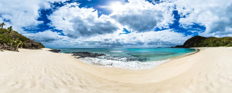 Deserted White Sand Beach from Yasawa Island Resort & Spa