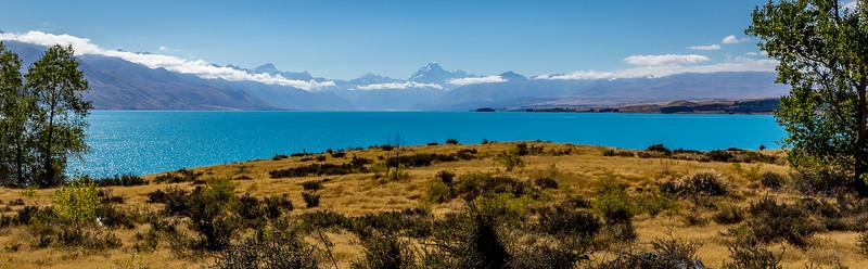 «Alps to Ocean Trail»: Blick vom «Lake Pukaki» Richtung «Mount Cook»