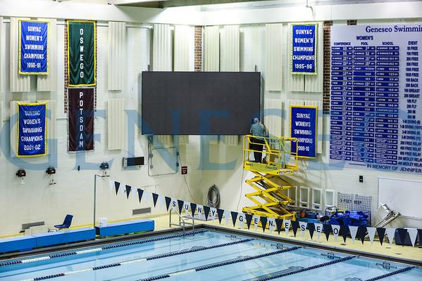 Pool Scoreboard Installation