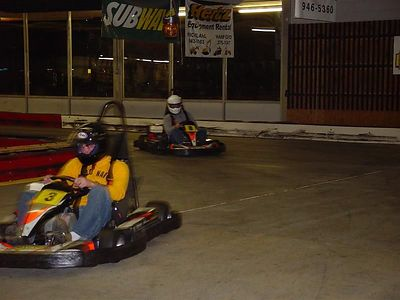 Tyson and Aaron Go Kart Racing