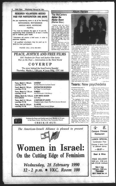 Daily Trojan, Vol. 111, No. 32, February 28, 1990