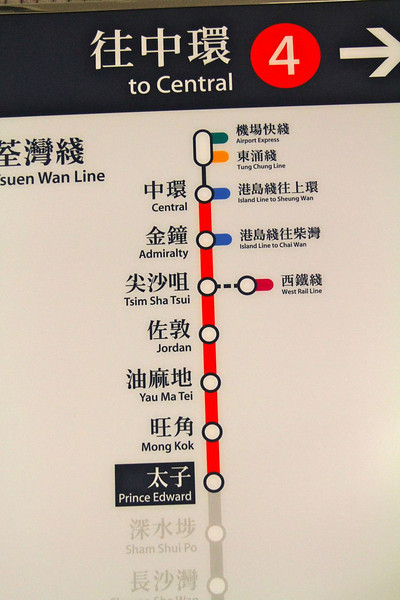 The route we take daily on the train from hotel to various parts of the city