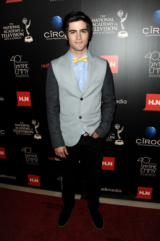 """. Max Ehrich, from \""""The Young and the Restless,\"""" arrives at the 40th Annual Daytime Emmy Awards on Sunday, June 16, 2013, in Beverly Hills, Calif. (Photo by Richard Shotwell/Invision/AP)"""