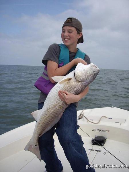 "Mr Dakota ""Dude"" Weible  With 42 inch redfish"