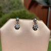 .69ctw Vintage Diamond Double Drop Earrings, French 12