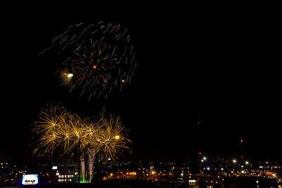 Fireworks at OneOk Stadium
