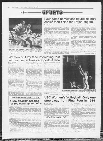 Daily Trojan, Vol. 97, No. 68, December 12, 1984