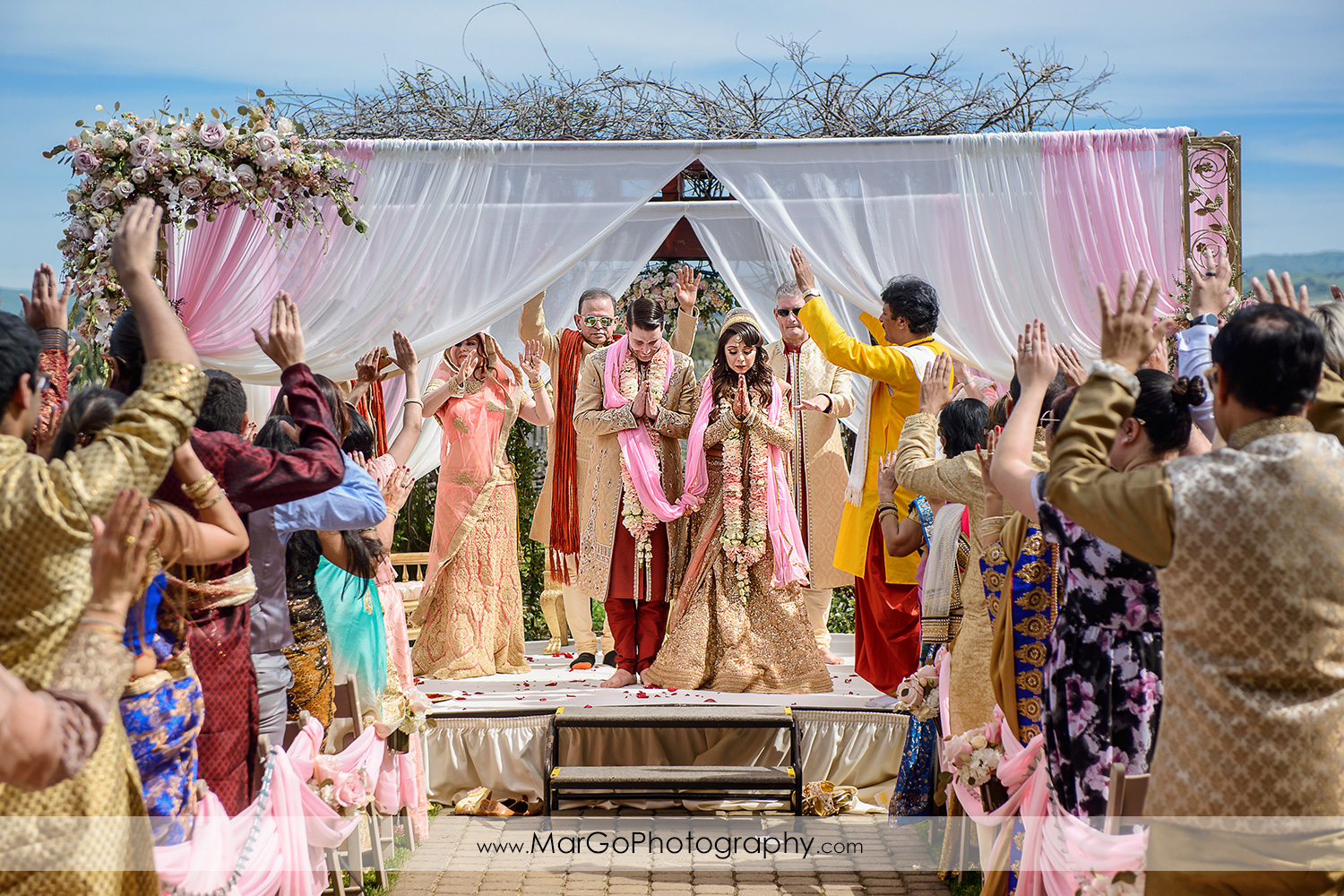 hindu wedding ceremony at Palm Event Center in the Vineyard in Pleasanton