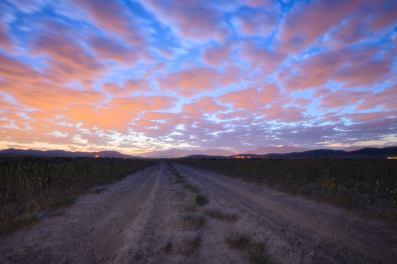 Sunrise on a Dirt Road