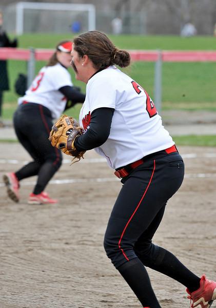 Wesleyan University Cardinals Softball Team Amherst at Wes, April 8, 2011