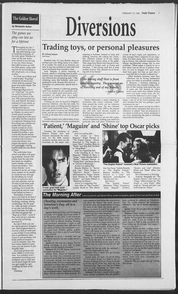 Daily Trojan, Vol. 130, No. 23, February 12, 1997
