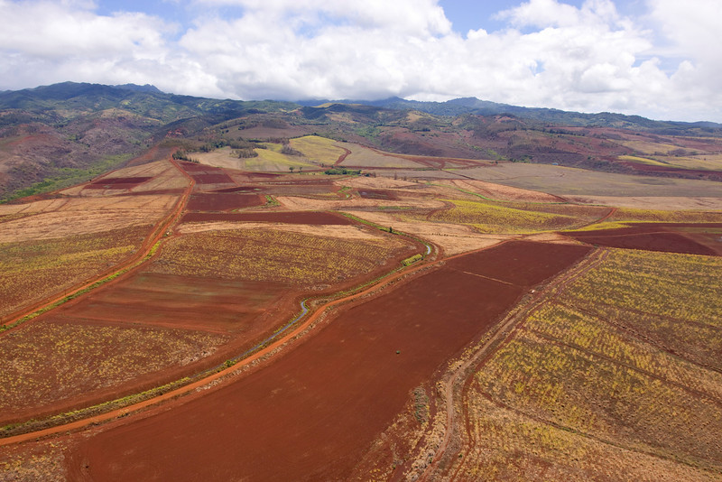 Red dirt ag fields