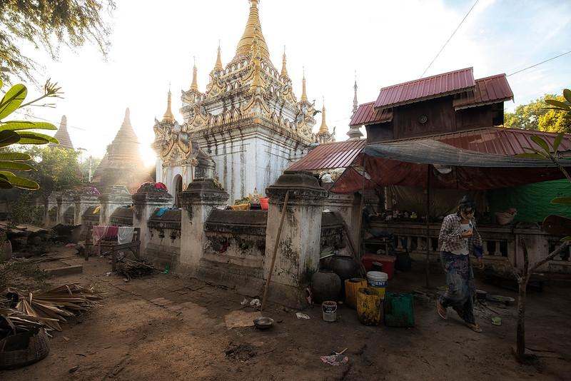 Scene away from the touristy area in Bagan.  Bagan, Myanmar. 2017.