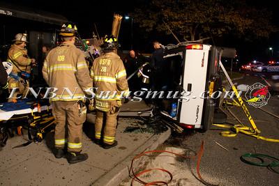 Bay Shore F.D. Overturned Auto w/ Entrapment E. Main St. & Saxon Ave. 10-28-14
