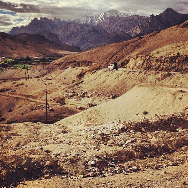 Road trips are about arc: where you've been, where you are, where you're going.   Approaching Lamayuru, Ladakh