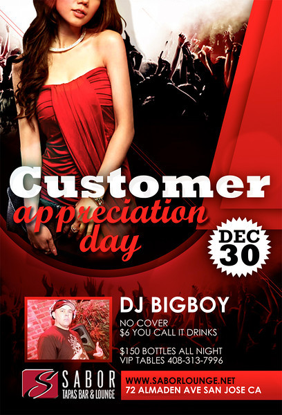 Customer Appreciation Day @ Sabor Tapas Bar & Lounge 12.30.11