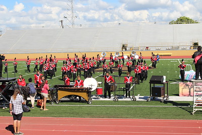 Jourdanton Band at Harlandale Marching Festival 2018