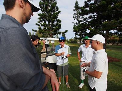 Groomsmen Golfing