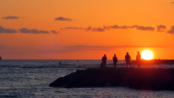 Sunrises, Sunsets Hawaii March 2012