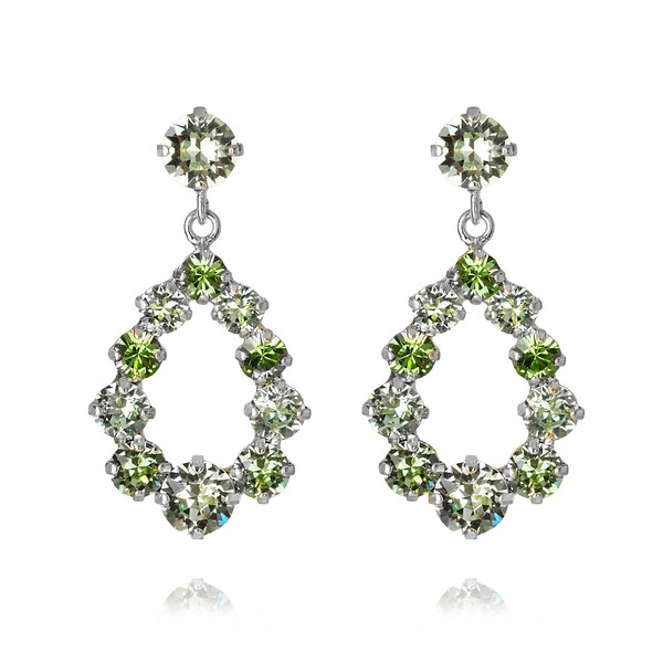 Mini Delia Earrings : Crysolite-rhodium.jpg