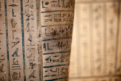 Hieroglyphs on sarcophagus. British Museum. London
