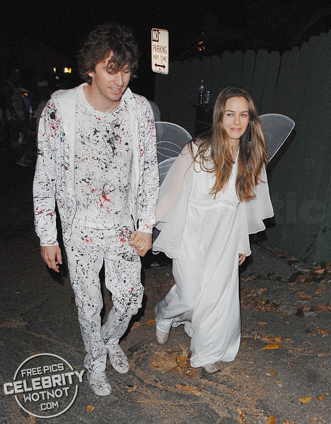Alicia Silverstone Is An Angel At Halloween With Then Husband Christopher Jarecki! LA