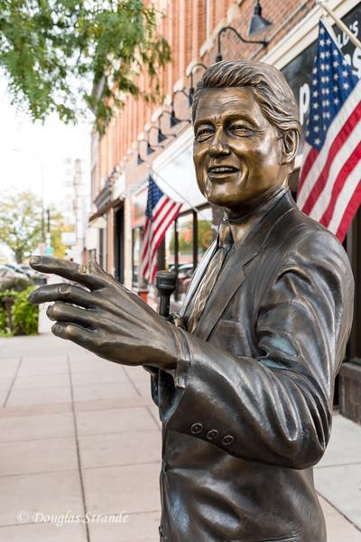 Presidential Bronze Statues populate Street Corners