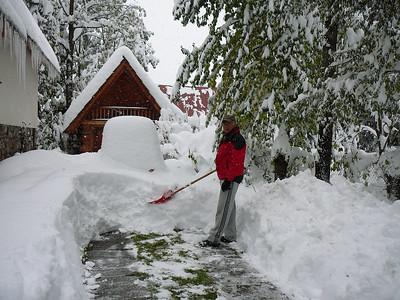 October snow in Poland