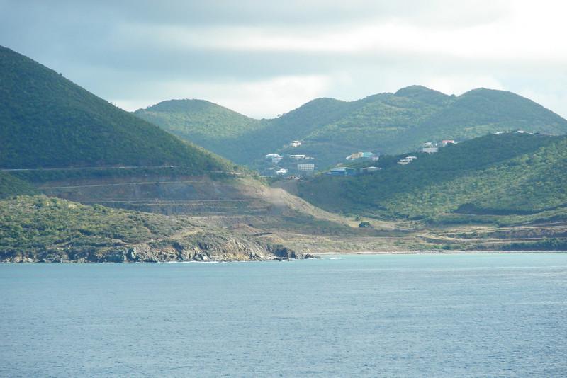 View from the ship of St. Maarten, Netherlands Antilles