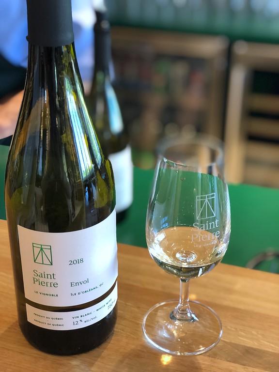 Wine tasting at Vignoble Saint-Pierre