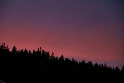 Sunset at Whistler