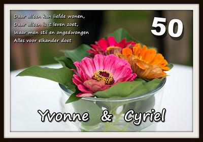 Yvonne & Cyriel (50 jaar huwelijk)  08/08/2015