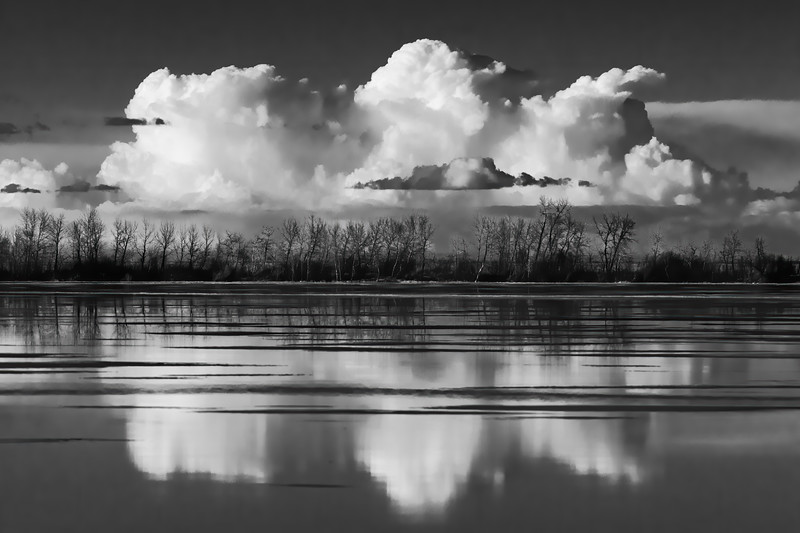 Three Clouds 8x12 Metal Print $70