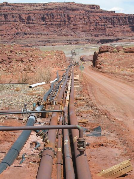 Salt pipelines
